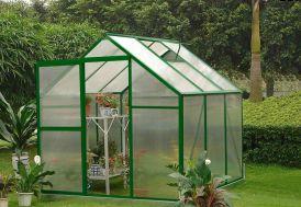 Serre de Jardin Polycarbonate Lilas (225x225x227)