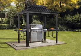 abri barbecue aluminium acier galvanisé 2 x 3 m