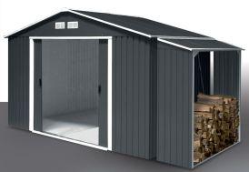 Abri de Jardin Metal Duramax Colossus 321x242x210cm (l,l,h) + Abri Bûches