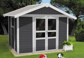Abri de Jardin PVC Basic Home 7,5 Gris Foncé