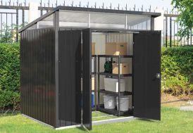 Abri de jardin en acier galvanisé Duramax Modern 4,5 m² anthracite