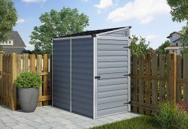 Abri Jardin Adossable Jarry Polycarbonate et Aluminium (175x110cm)