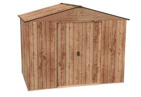 Abri de jardin en acier imitation bois Duramax 8 x 6 Woodgrain