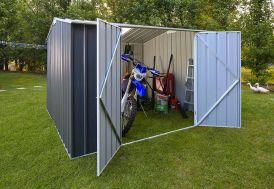 Abri de Jardin en Métal Galvanisé Gris 11 m² 0,35 mm