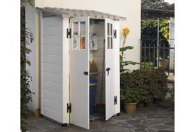 Abri de Jardin Mural en PVC Evo 100 Beige (82x122cm)