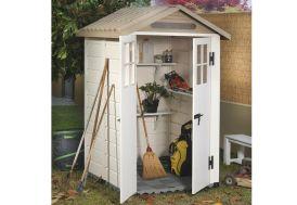 abri jardin en PVC Garofalo EVO120 double pentes