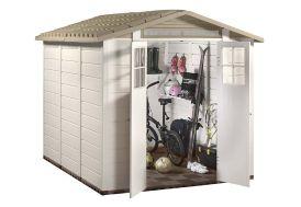 Abri de Jardin en PVC Evo 240 Beige (242x202cm)