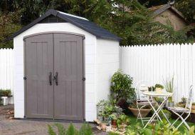 abri de jardin montfort toit double pans surface 6m2 avec double porte et ventilation