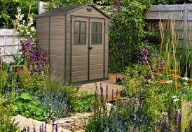 Abri de jardin pvc duramax woodstyle 3 20x2 40 abri duramax woodstyle 3 20x2 40 m duramax - Abri de jardin en resine premium 65 ...