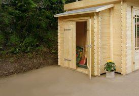 Armoire Jardin Bois Adossée pour Abris Solid (2 portes)
