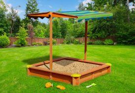 bac à sable en bois pour enfants Lily avec parasol