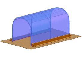 bache de couverture de remplacement pour abri de culture Richel 2 x 4 m J20400