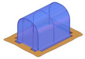 kit de bâches complet pour serre de jardin tunnel Richel 2 x 3 m J20300