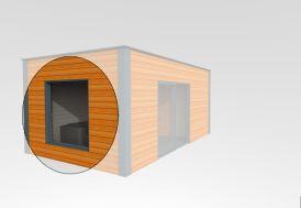 Fenêtre Fixe 180x180 cm (l,h)