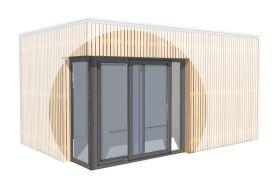 Complément Angle Vitré pour Baie Coulissante Bungalow Design Studio