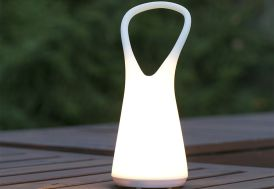 Baladeuse Lumineuse Blanche Autonome 10,5x25,2cm (l,h)