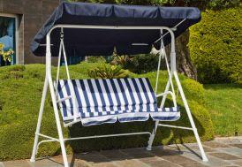 Balancelle Bleu et Blanc 166 x 110 cm (l,l)