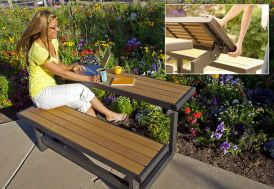 banc de jardin polystyrène