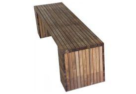 banc de jardin en bois traité autoclave et teinté brun 200 cm