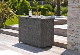 Bar d'Extérieur Coffre de Rangement Résine Tressée Zanzibar L 130 cm