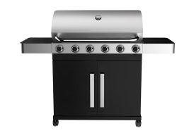 Barbecue au Gaz 6 Brûleurs + 1 Brûleur Latéral Grand Prestige