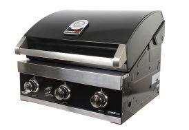 barbecue au gaz à encastrer 3 brûleurs en inox 12,8 kw