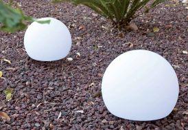Boule Lumineuse Blanche Autonome 40x32cm (l,h)
