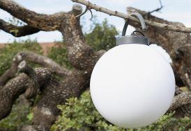 Boule Lumineuse Blanche sur Secteur, 40 cm poignée (4 Coloris)