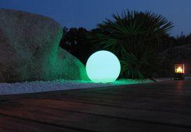 Boule Lumineuse Multicolore LED Etanche, Télécommande, Secteur, 60cm