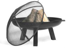 Braséro en Acier Polo + Pare Etincelles (plusieurs dimensions)