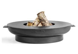 braséro et plaque de cuisson plancha ronde pour cuire aliments