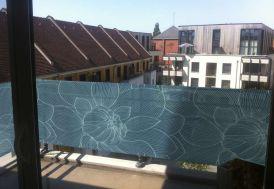 Brise Vue Décoratif en Polyester Magnolia Bleu au m²