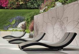 Brise Vue Décoratif en Polyester Magnolia Taupe au m²