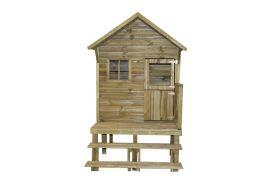 cabane d'enfant en bois traité autoclave maisonnette montée sur pilotis
