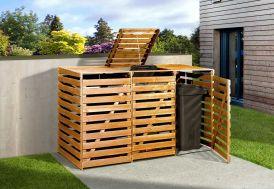 Cache-poubelle en bois de pin traité 92 x 219 x 122 cm Weka