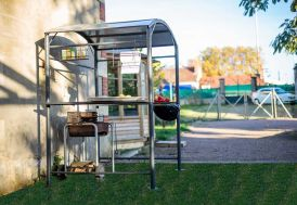 Carport Abri pour Barbecue Acier Epoxy(167x128)
