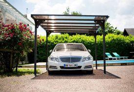 Carport en Aluminium Toit Plat (294x500cm)