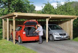 carport en bois deux voitures