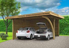 Carport en Bois Traité Autoclave (5x6m)
