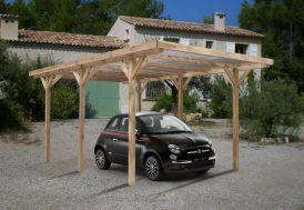 Carport Bois Max Toiture PVC (3x5,1x2,33)