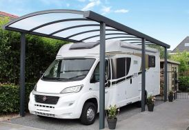 Carport Camping-Car Aluminium et Polycarbonate 16 mm