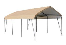 carport souple en acier et bâche polyéthylène imperméable