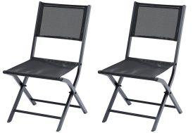chaises de jardin Modulo pliante en aluminium et en textilène