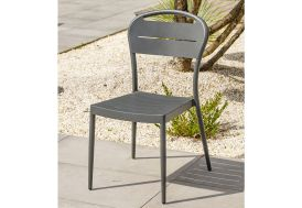 Chaise de Jardin Empilable en Aluminium Alumob Madelia Gris Anthracite