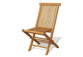 Chaise de Jardin Teck Pliante (Lot de 2)