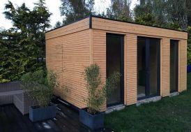Chalet en Bois Habitable Isolé 90 mm Double Vitrage Toit Plat 15 m²