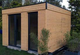 Chalet en Bois Habitable Isolé 90 mm Double Vitrage Toit Plat 9 m²