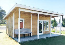 bungalow d'extérieur avec avancée carport sur 4 pieds pour terrasse