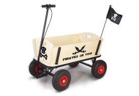 Chariot de Plage en Bois Jack le Pirate avec Frein