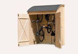 Coffre de Rangement Bois pour Vélos 134x160